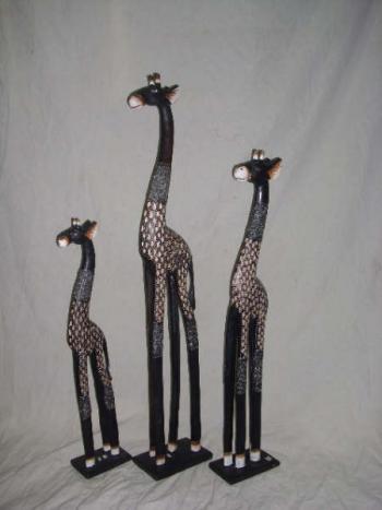 Art culos decorativos jirafas de madera tallados a mano - Artesania de indonesia ...